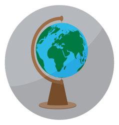 Icon globe sign vector image