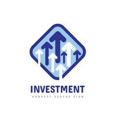 Investment logo template design business invest vector