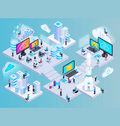 Isometric cloud computing composition vector
