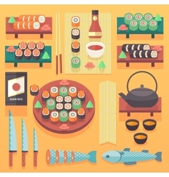 Japanese food and cuisine vector