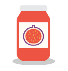 Jar with fruit and berry jam vector