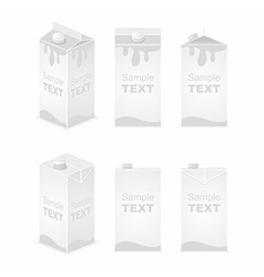 Juice pack vector image
