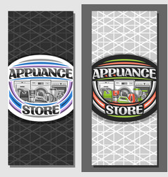 Layouts for appliance store vector