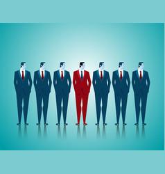 leadership of business team vector image