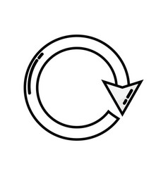 Line arrow circle sign loading progress vector