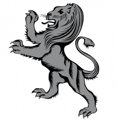 lion herald vector image
