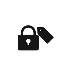 Lock icon user icon on key personal protection vector