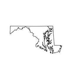 map of the us state maryland vector image vector image