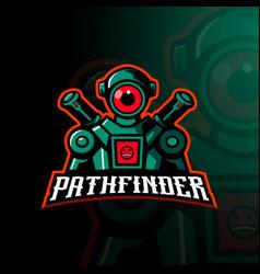 Mascot design of pathfinder vector
