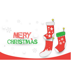 merry christmas happy new year christmas socks vector image