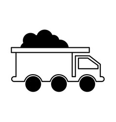mine truck isolated icon vector image