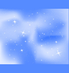 Night sky with stars and clouds sparkle starry vector
