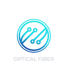 Optical fiber icon on white vector