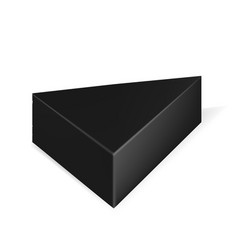 packaging black triangle packaging box on vector image