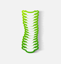 Paper clipped sticker with curvature vector