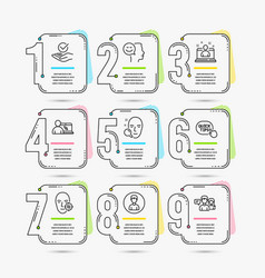 Person online education and quick tips icons vector