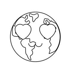 Planet earh cartoon vector