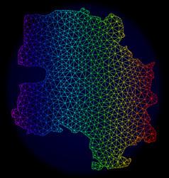 Polygonal network rainbow mesh map of new vector