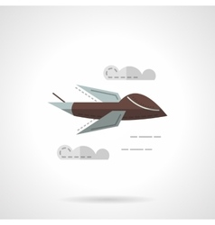 Predator drone flat simple icon vector image
