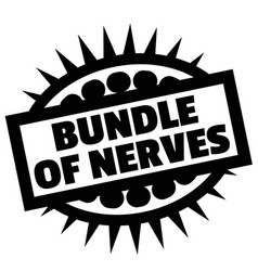 Print bundle of nerves stamp on white vector