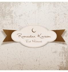 Ramadan Kareem Eid Mubarak realistic Emblem vector image