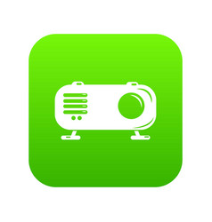retro radio icon green vector image