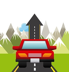 road concept vector image