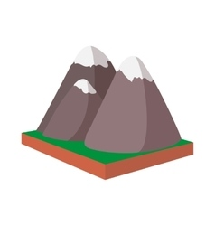 Rocky mountains canada icon cartoon style vector