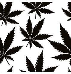 Seamless marijuana leaves vector image