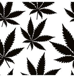 Seamless marijuana leaves vector