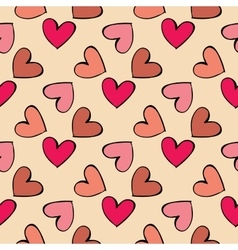 Seamless pattern hearts vector