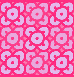 seamless - pink rings vector image