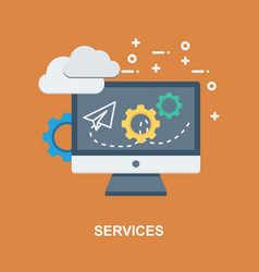 services cencept design vector image