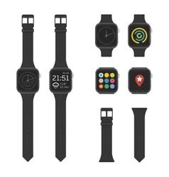 Set of smart watches vector
