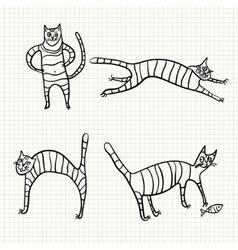 Sketch cat vector