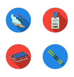 Ski sled lifeguard badge badge avalanche ski vector