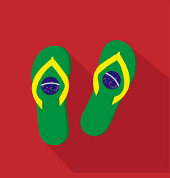 slippers flat cartoon icon brazil vector image
