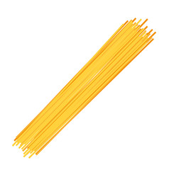 Spaghetti food on white background vector