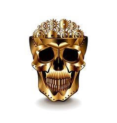 Steampunk human skull isolated vector