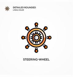 Steering-wheel icon modern vector
