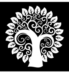 swirly tree vector image