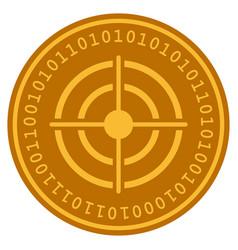 target digital coin vector image