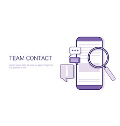 team contact information business concept template vector image