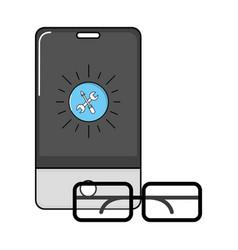 technology smartphone cartoon vector image
