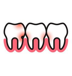 Toothache icon vector