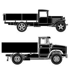 Trucks silhouettes vector