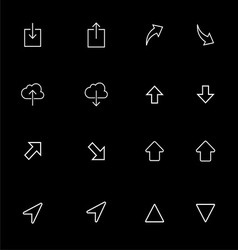 Up Down Outline Icon Set vector