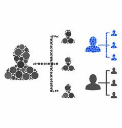 user scheme mosaic icon circle dots vector image