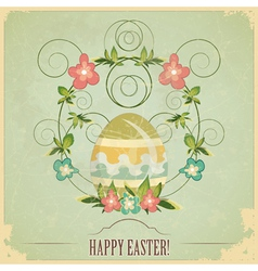 vintage easter greeting card vector image