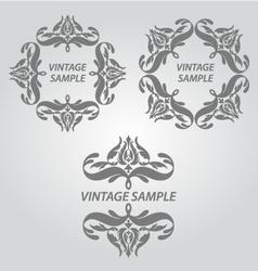 Vintage elements of design vector image